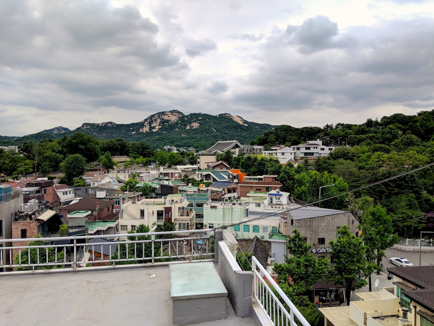 Small hills and valleys in the Korean landscape